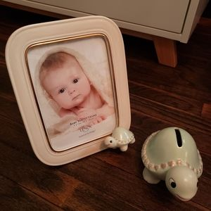 LENOX Baby Turtle Frame and Bank